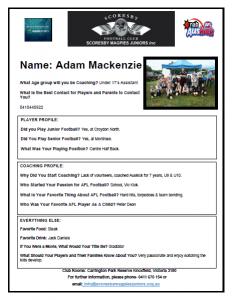 Adam Coaching Profile